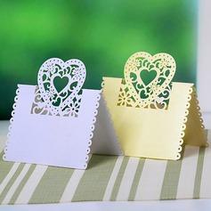 Hjertet udformning Perle-papir Bordkort (sæt af 12) (131037415)