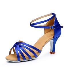 Donna Raso Tacchi Sandalo Latino con Fibbia Cava-out Scarpe da ballo (053111457)