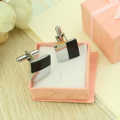 Simple Square Stainless Steel Cufflink (Set of 2) (051033666)