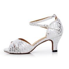Женщины Замша На каблуках Сандалии Латино с Ремешок на щиколотке Обувь для танцев (053065470)
