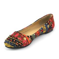 Kunstleder Flascher Absatz Flache Schuhe Geschlossene Zehe Schuhe (086062101)