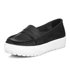 Couro verdadeiro Sem salto Sem salto Fechados sapatos (086060045)
