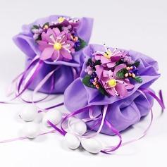 Mooie Bloemen Thema Bedank Tassen met Bloemen/Linten (Set van 12) (050046720)