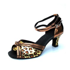 Women's Leatherette Heels Sandals Latin With Ankle Strap Dance Shoes (053082944)