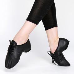 Женщины Натуральня кожа Джаз Обувь для танцев (053121920)