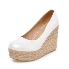 Женщины кожа Вид каблука На каблуках Закрытый мыс обувь (116089839)