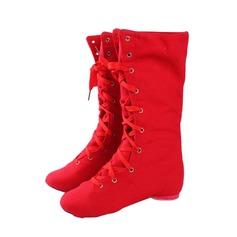 Женщины Холст Ботинки Джаз Обувь для танцев (053076374)