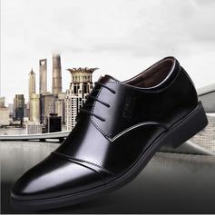 Homens Microfibra Couro Aplicação de renda Sapatos De Vestido Trabalhos Oxfords Masculinos (259173797)