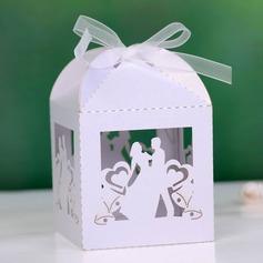 De & bruidegom bruid Balk Bedank Doosjes met Linten (Set van 12) (050027008)