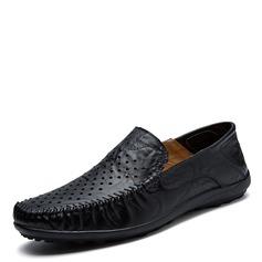 Мужская натуральня кожа U-Tip вскользь Men's Loafers (260172140)