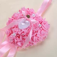 Romantic Rose Ring Pillow in foam With Ribbons/Rhinestones/Faux Pearl (103169038)