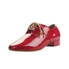 Мужская Натуральня кожа На каблуках Латино Бальные танцы качать Практика Обувь для Персонала с Шнуровка Обувь для танцев (053056028)