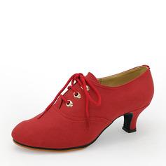 Mulheres Camurça Saltos Swing Sapatos de dança (053143460)