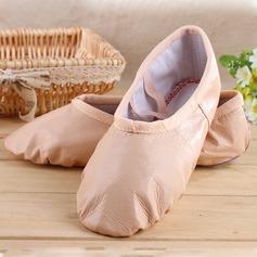 Женщины Натуральня кожа На плокой подошве Балет Обувь для танцев (053104003)