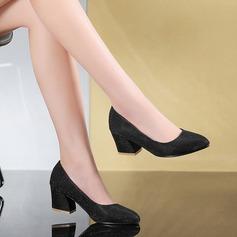 Женщины кожа Устойчивый каблук На каблуках обувь (085103253)
