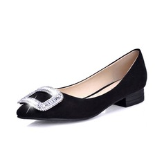 Konstläder Flat Heel Platta Skor / Fritidsskor Stängt Toe med Strass skor (086049290)