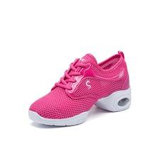 Женщины кожа Танцевальные кроссовки Танцевальные кроссовки Обувь для танцев (053093928)