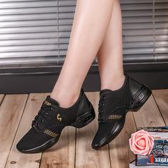 Женщины ткань Танцевальные кроссовки Танцевальные кроссовки с Шнуровка Обувь для танцев (053106471)