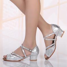 Детская обувь кожа Сандалии Латино Обувь для танцев (053117614)