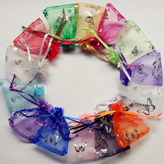Butterfly Theme Favor Bags With Ribbons (Set of 12) (050019805)