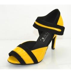 Женщины кожа На каблуках Сандалии Латино Обувь для танцев (053072364)