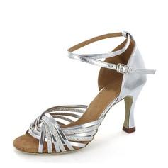Women's Leatherette Sparkling Glitter Heels Sandals Latin Dance Shoes (053146270)