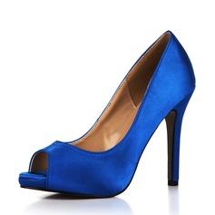 Kvinnor Plast Stilettklack Pumps Peep Toe skor (117153675)