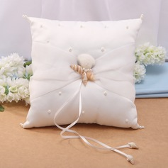 Starfish Design Ring Pillow in Satin With Starfish and Seashell (103037450)