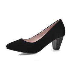 Camurça Salto robusto Bombas Fechados sapatos (085062845)