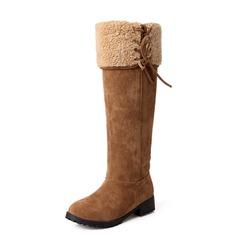 Suede Low Heel Knie Lengte Laarzen Snowboots schoenen (088056916)
