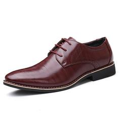 Homens Microfibra Couro Aplicação de renda Sapatos De Vestido Trabalhos Oxfords Masculinos (259173759)