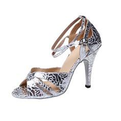 De mujer Cuero Tacones Danza latina con Hebilla Zapatos de danza (053041203)