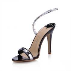 Patent Leather Stiletto Heel Sandals Slingbacks shoes (087025077)