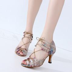 De mujer Cuero Tacones Danza latina Zapatos de danza (053118704)