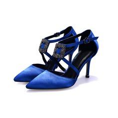 Женщины Атлас Высокий тонкий каблук На каблуках обувь (085102225)