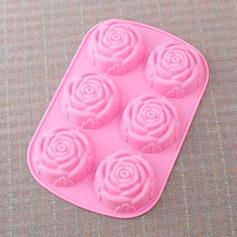 Роуз дизайн Силикон прессформа торта (051053250)