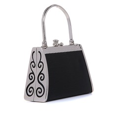 Unik Faux läder/Metall med Strass mode handväskor (012048454)