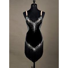 Женщины Одежда для танцев бархат Латино (115127332)