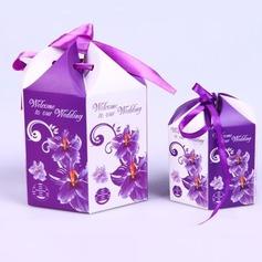 Design floral Caixas do Favor com Fitas (Conjunto de 10) (050040152)