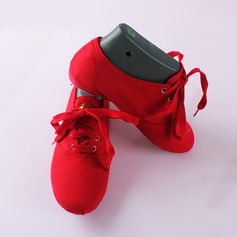 Женщины Холст На плокой подошве Балет Джаз Обувь для танцев (053111518)