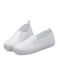 Мужская Закрытый мыс Loafers & Slip-Ons Холст холст Плоский каблук На плокой подошве Kроссовки и атлетики (207150944)