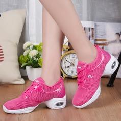 Женщины ткань Танцевальные кроссовки Танцевальные кроссовки с Шнуровка Обувь для танцев (053106488)