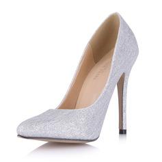 Kvinder Mousserende Glitter Stiletto Hæl Pumps Lukket Tå sko (085053018)