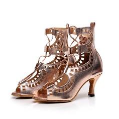 Женщины кожа На каблуках Сандалии Латино с В дырочку Обувь для танцев (053105438)