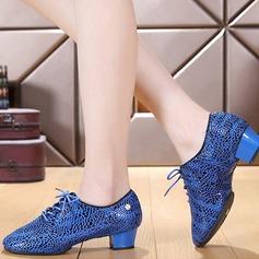 Женщины кожа Современный Практика Обувь для танцев (053130687)