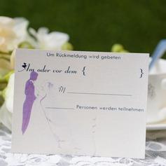 Персонализированные невеста и жених стиле ответ карты (набор из 50) (114063941)