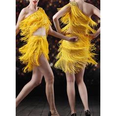 Женщины Одежда для танцев Спандекс Латино Верхняя часть Юбки (115121810)