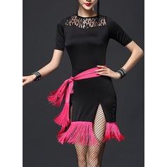 Женщины Одежда для танцев Кружева Латино Платья (115112619)