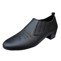 De los hombres Piel Tacones Danza latina Sala de Baile Entrenamiento zapatos de personaje Zapatos de danza (053013193)