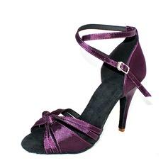 Women's Satin Heels Sandals Latin Dance Shoes (053146262)